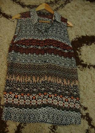 Удлиненная блуза с разрезами f&f