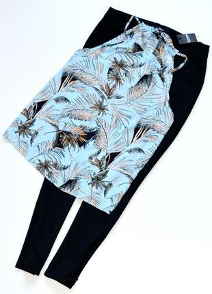 Красивая блуза с тропическим принтом