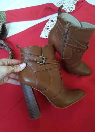 🌾 стильные сапоги ботинки buffalo london натуральная кожа