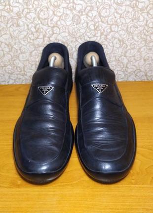 Кожаные туфли кроссовки prada milano dal 1913 оригинал