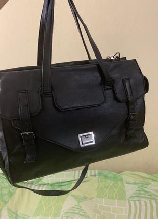 Кожаная сумка сумка кожаная для документов ноутбука вместительная