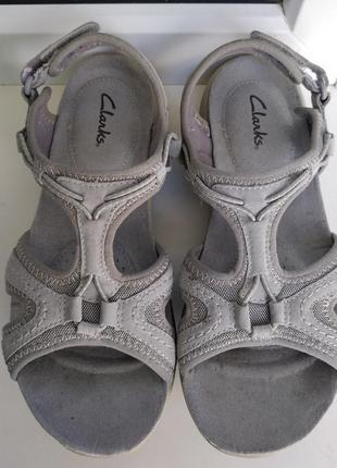 Женские сандалии босоножки clarks р. 37 ( 4 ) стелька 24 см