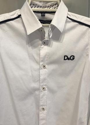 Стильная белая рубашка на мальчика 8-9 лет