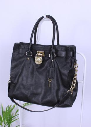 Оригинальная кожаная сумка от michael kors