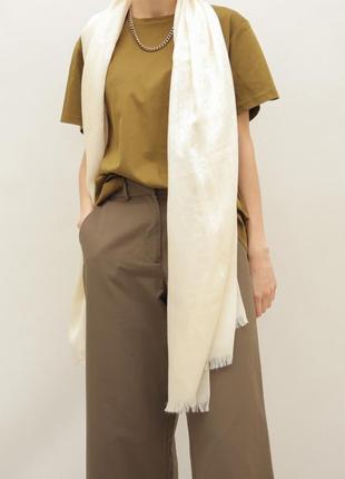 Шерстяной, шёлковый шарф gucci {burberry