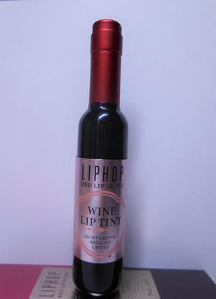 Liphop red lip gloss, wine lip tint, 02 тинт для губ