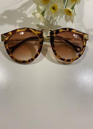 Очки солнцезащитные miu miu леопардовый принт