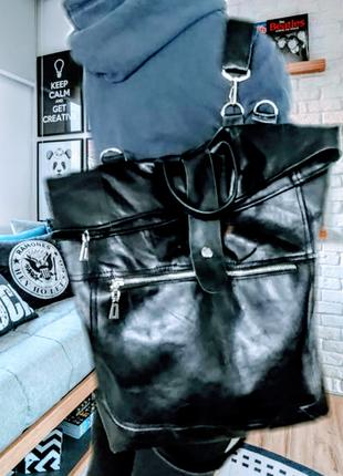 Мега стильный рюкзак, натуральная кожа