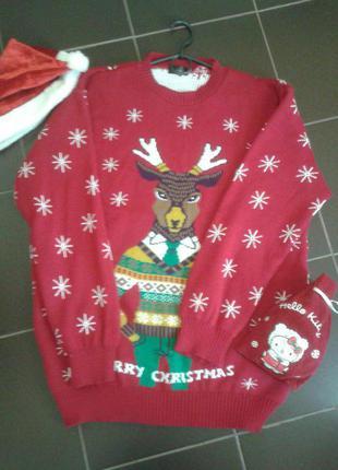 Теплый праздничный свитер