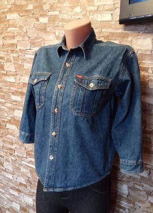 Американский бренд,новая!шикарная,красивая,джинсовая рубашка,сорочка,блуза,коттонка