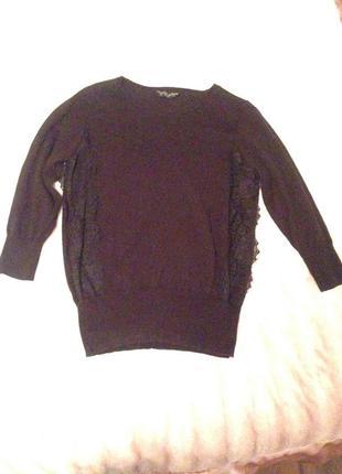 Черный свитер с кружевом dorothy perkins