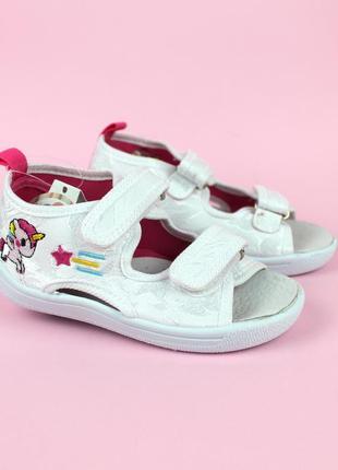 Текстильные сандалии с единорогом в двух цветах