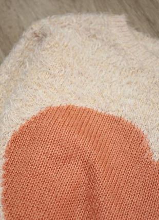 Супер плюшевий светер з сердечком