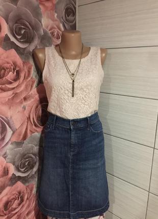 Классная  джинсовая миди юбка gap denim 1969 от gap