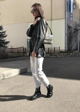 Кожаная куртка,  кожаный пиджак, рубашка из экокожи