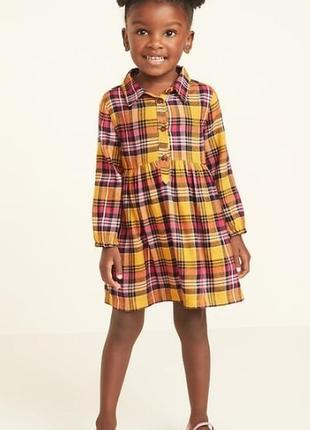 Платье на девочку, фланель от old navy на 3,4,5 лет