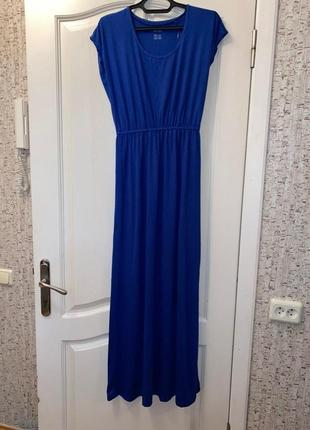Синее яркое платье в пол  esmara s 36 - 38