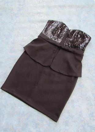 Черное вечернее коктельное платье бандо от mayadeluxe р.16 xxl. новое с ярлыками!