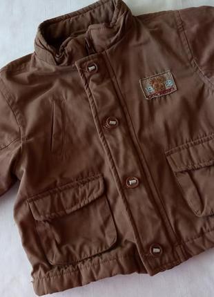 Весенняя осенняя коричневая куртка