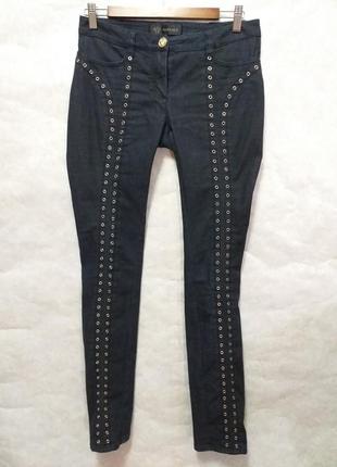 Gianni versace винтажные женские узкие джинсы италия