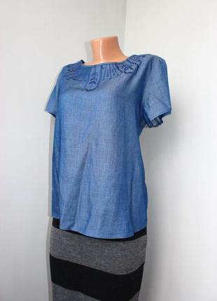 Блуза / рубашка тонкий джинс / лиоцел / с вышивкой /с распоркой спины, индия, м