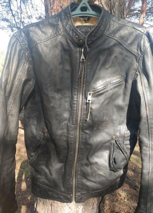 Кожаная куртка zara man