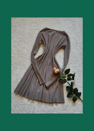 Трикотажное платье длинный рукав размер 34-36