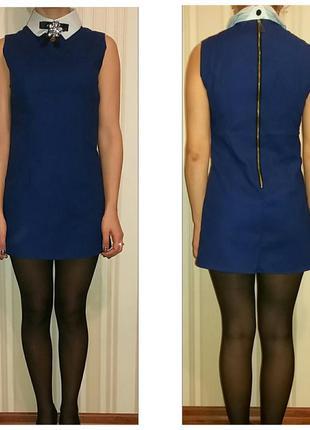 Платье синеее,размер s