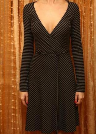 Платье миди платье с длинным рукавом