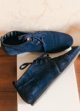 Темно-синие демисезонные ботинки оксфорды carlo pazolini
