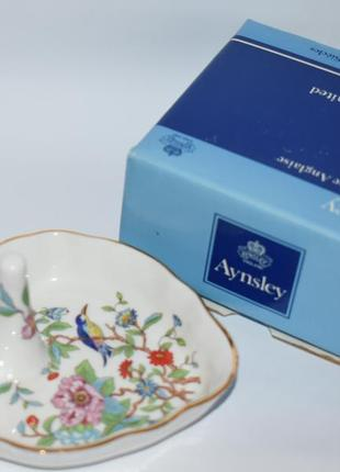 Новая шкатулка фарфор роспись bone china aynsley ring holder  heart pembroke 589 в коробке