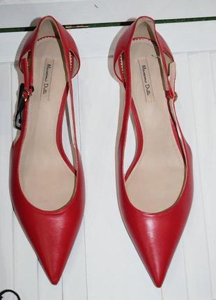 Кожаные туфли лодочки massimo dutti