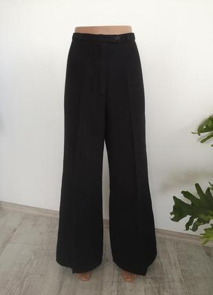 Широкие брюки палацо / разделённые брюки на высокой посадке
