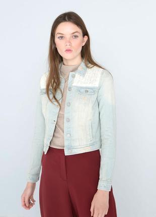 Крутая джинсовая куртка курточка ,джинсовка голубая,светлая,синяя, весенняя