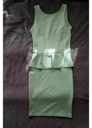 Бандажное нежное платье