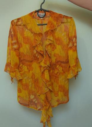 Воздушная шифоновая блузка для жаркого лета