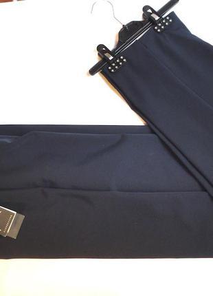 Шикарные новые темно синии брюки прямые фирма klandestine,стрейч
