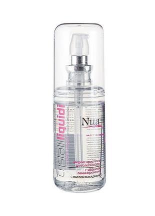 Жидкие кристаллы для блеска волос с эффектом ламинирования nua 80 мл