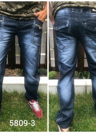 Фирменные качественные мужские джинсы vigoocc, турция, 100% коттон 33 p.