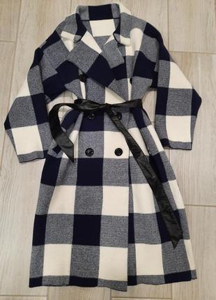 Крутое пальто. клетка.