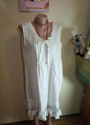 Платье лен 14 размер