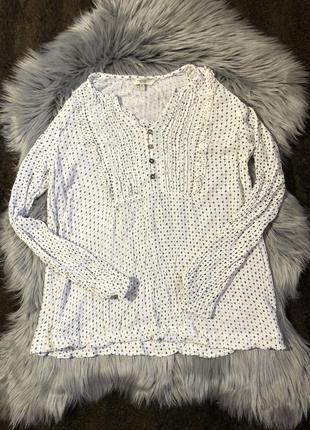 Белая блуза с рукавами, блузка біла, длинный рукав
