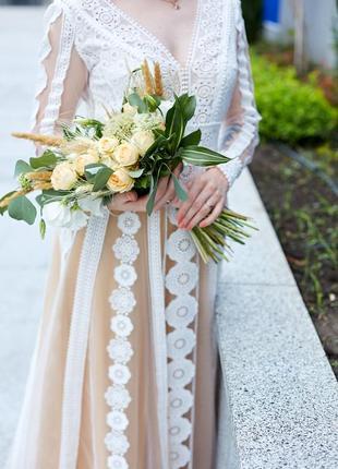 Шикарное свадебное {выпускное} платье