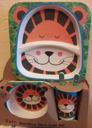 Бамбуковый набор посуды для детей