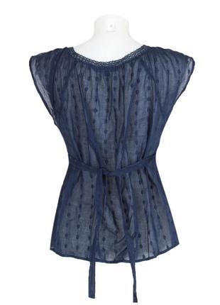 Синяя блуза-безрукавка из шитья2