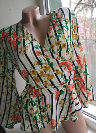 Блузка на запах zara basic