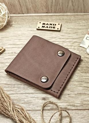 Мини-кошелёк из натуральной кожи