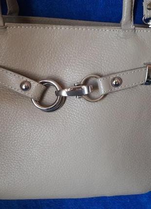 Оригинал кожаная сумка genuine leather made in italy 100% натуральная кожа