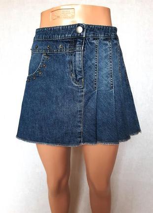 Стильная джинсовая юбка george, м #розвантажуюсь