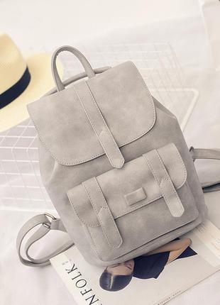 9744f496ca53 Рюкзак сумка трансформер серый молодежный кожаный, цена - 699 грн ...
